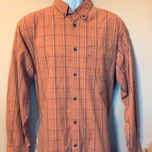 Columbia Sportswear Burnt Orange Rust Dress Shirt